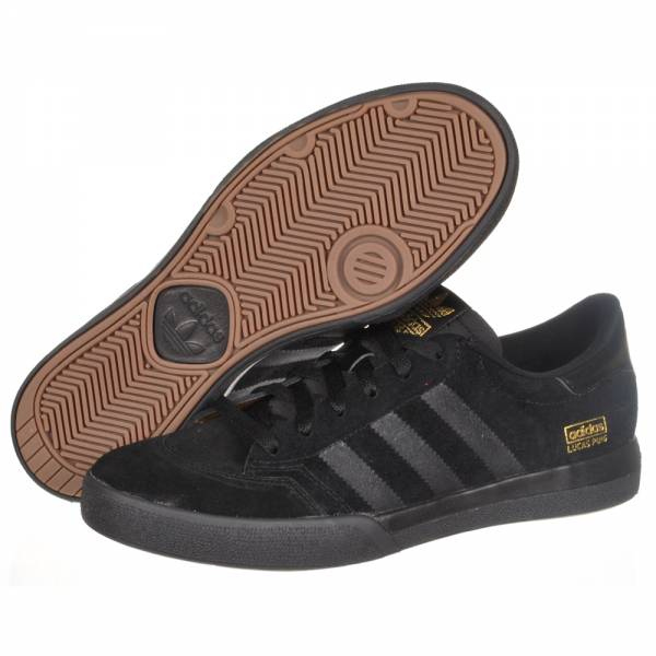 Adidas Black And Gold Skate Shoes